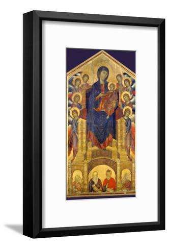 Madonna of the Holy Trinity, Painted Around 1260 for the Church of the Trinity in Florence-Cimabue-Framed Art Print