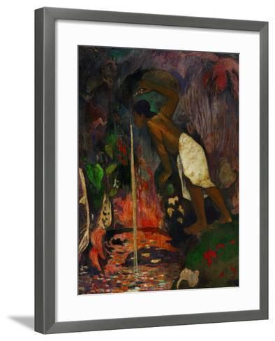 Pape Moe, 1893-Paul Gauguin-Framed Art Print