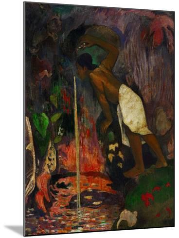 Pape Moe, 1893-Paul Gauguin-Mounted Giclee Print