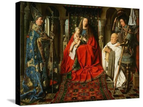 Madonna Adored by the Canonicus Van Der Paele-Jan van Eyck-Stretched Canvas Print
