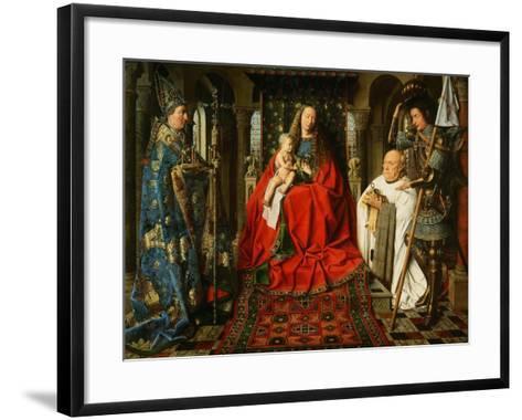 Madonna Adored by the Canonicus Van Der Paele-Jan van Eyck-Framed Art Print