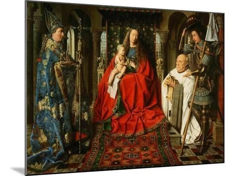 Madonna Adored by the Canonicus Van Der Paele-Jan van Eyck-Mounted Giclee Print