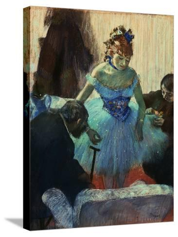 A Ballet Dancer in Her Dressing Room-Edgar Degas-Stretched Canvas Print