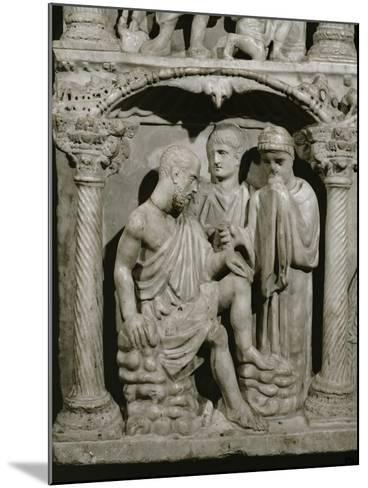 Detail of Job from the Sarcophagus of Junius Bassus--Mounted Giclee Print