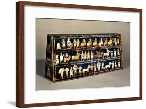 The Standard of Ur, Southern Iraq, 2600-2400 BCE--Framed Art Print