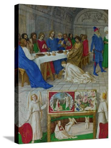 Les Heures D'Etienne Chavalier: Mary Magdalen at the Feast of Simon-Jean Fouquet-Stretched Canvas Print