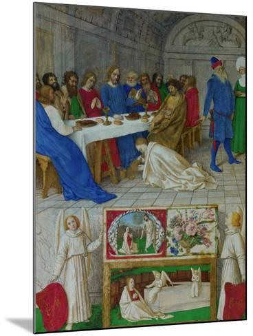 Les Heures D'Etienne Chavalier: Mary Magdalen at the Feast of Simon-Jean Fouquet-Mounted Giclee Print
