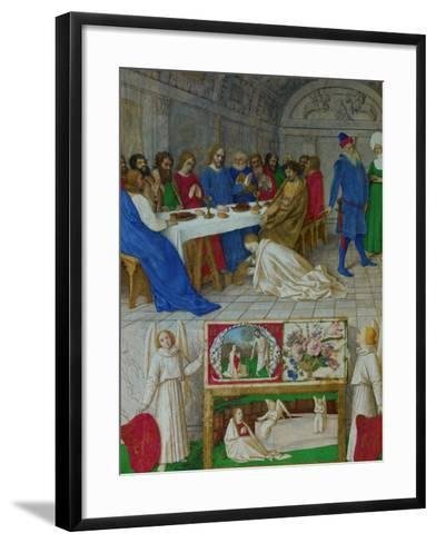 Les Heures D'Etienne Chavalier: Mary Magdalen at the Feast of Simon-Jean Fouquet-Framed Art Print