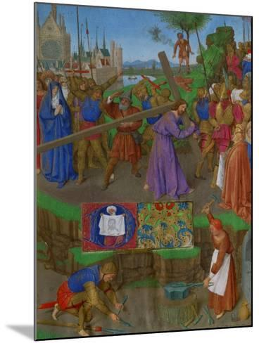 Les Heures D'Etienne Chavalier: The Carrying of the Cross-Jean Fouquet-Mounted Giclee Print