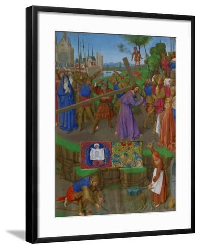 Les Heures D'Etienne Chavalier: The Carrying of the Cross-Jean Fouquet-Framed Art Print