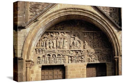 The Last Judgement, from the Tympanon Over the Main Entrance, Sainte-Foy, Conques, Aveyron--Stretched Canvas Print