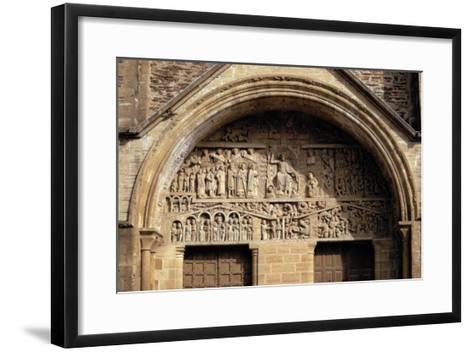 The Last Judgement, from the Tympanon Over the Main Entrance, Sainte-Foy, Conques, Aveyron--Framed Art Print