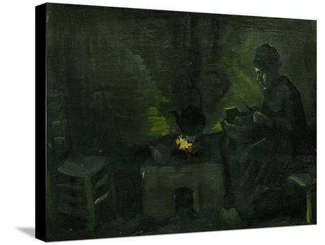 Peasant Woman Near the Fire-Place, c.1885-Vincent van Gogh-Stretched Canvas Print