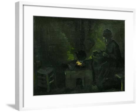 Peasant Woman Near the Fire-Place, c.1885-Vincent van Gogh-Framed Art Print