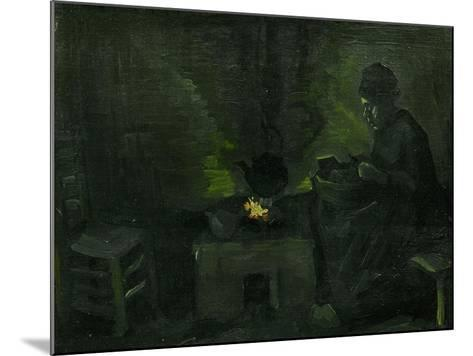 Peasant Woman Near the Fire-Place, c.1885-Vincent van Gogh-Mounted Giclee Print