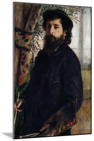 Portrait of Claude Monet with Palette, 1875-Pierre-Auguste Renoir-Mounted Giclee Print