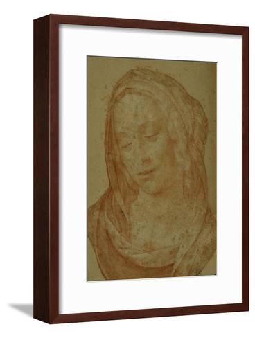 Portrait of a Woman with Veil-Lorenzo di Credi-Framed Art Print