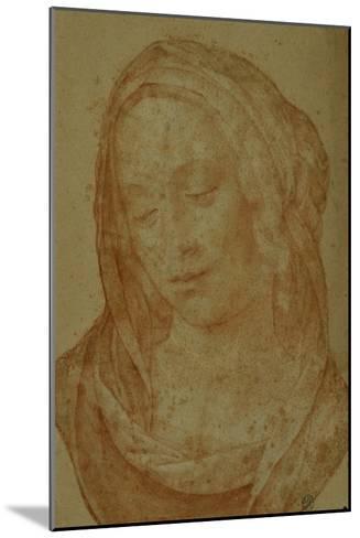 Portrait of a Woman with Veil-Lorenzo di Credi-Mounted Giclee Print
