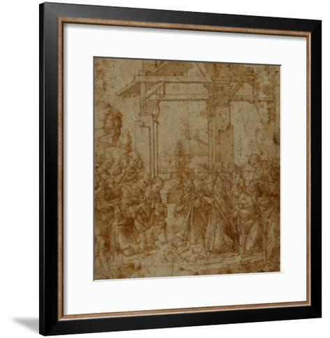 Adoration of the Shepherds-Lorenzo di Credi-Framed Art Print