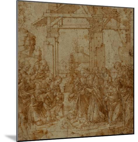 Adoration of the Shepherds-Lorenzo di Credi-Mounted Giclee Print