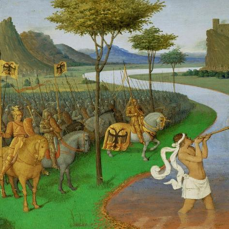 Caesar Crossing the Rubicon-Jean Fouquet-Stretched Canvas Print