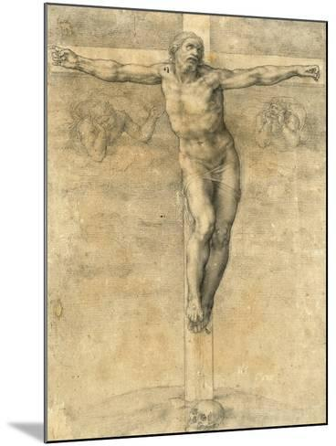 Christ on the Cross, Around 1541-Michelangelo Buonarroti-Mounted Giclee Print