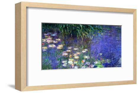 Waterlilies (Les Nympheas), Study of the Morning Water-Claude Monet-Framed Art Print