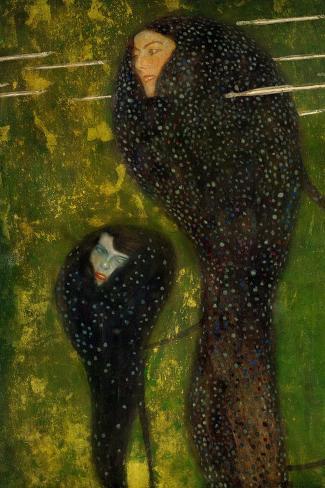 Nixen, Silberfische (Water Nymphs, Silverfish), 1894-Gustav Klimt-Stretched Canvas Print