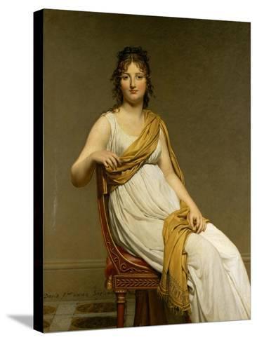 Henriette Verniac, Nee Henriette Delacroix, Sister of Eugene Delacroix-Jacques-Louis David-Stretched Canvas Print