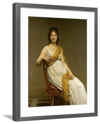Henriette Verniac, Nee Henriette Delacroix, Sister of Eugene Delacroix-Jacques-Louis David-Framed Art Print