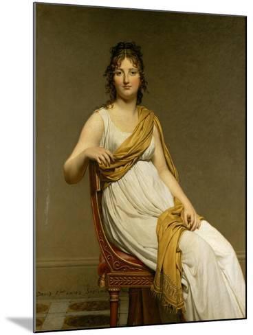 Henriette Verniac, Nee Henriette Delacroix, Sister of Eugene Delacroix-Jacques-Louis David-Mounted Giclee Print