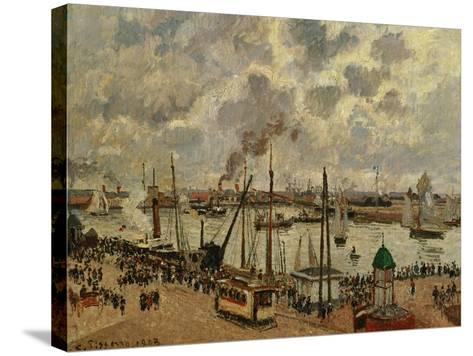 Port Du Havre, 1903-Camille Pissarro-Stretched Canvas Print