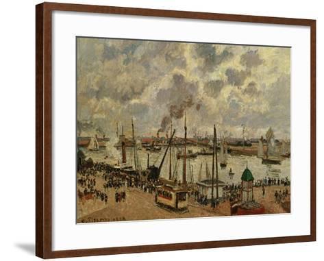 Port Du Havre, 1903-Camille Pissarro-Framed Art Print
