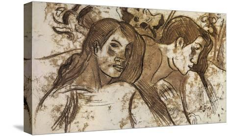 'Two Marquesans', 1902-Paul Gauguin-Stretched Canvas Print
