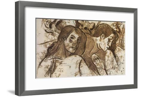 'Two Marquesans', 1902-Paul Gauguin-Framed Art Print