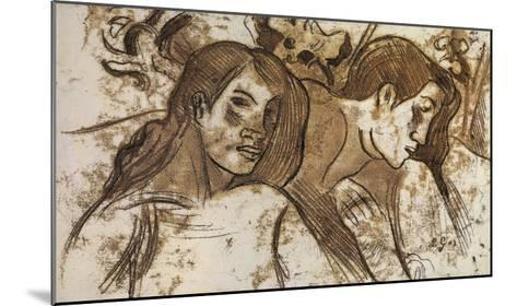 'Two Marquesans', 1902-Paul Gauguin-Mounted Giclee Print