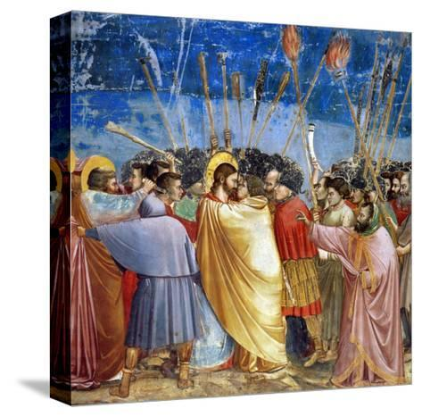 The Kiss of Judas, Mural-Giotto di Bondone-Stretched Canvas Print