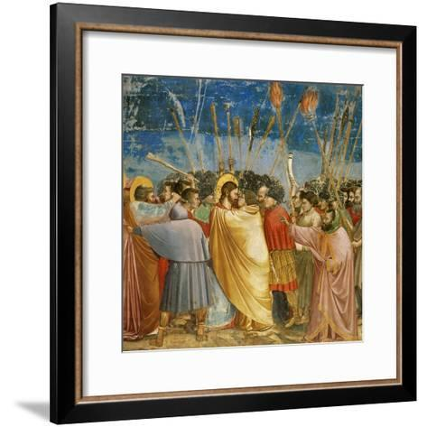 The Kiss of Judas, Mural-Giotto di Bondone-Framed Art Print