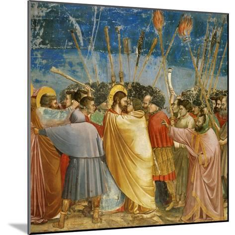 The Kiss of Judas, Mural-Giotto di Bondone-Mounted Giclee Print