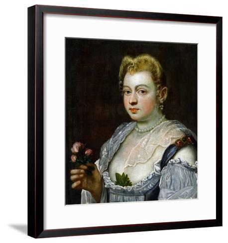 Portrait of an Unknown Lady-Jacopo Robusti Tintoretto-Framed Art Print