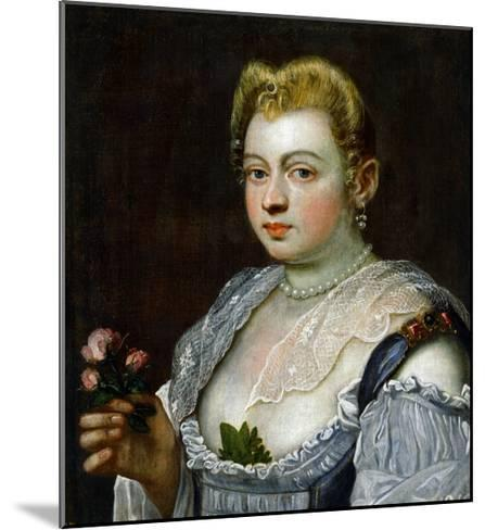 Portrait of an Unknown Lady-Jacopo Robusti Tintoretto-Mounted Giclee Print