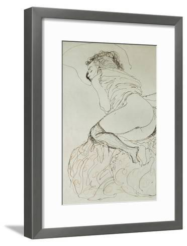 Female Nude, Turned to the Left, 1912-13-Gustav Klimt-Framed Art Print