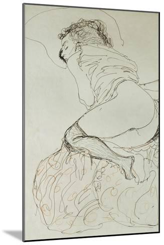 Female Nude, Turned to the Left, 1912-13-Gustav Klimt-Mounted Giclee Print