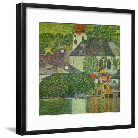 Kirche in Unterach Am Attersee, Church in Unterach on Attersee-Gustav Klimt-Framed Art Print