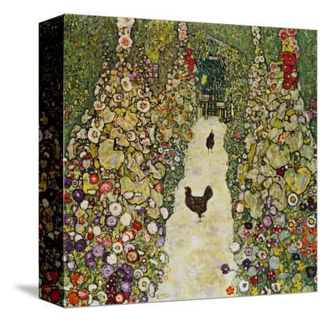 Gardenpath with Hens, 1916-Gustav Klimt-Stretched Canvas Print