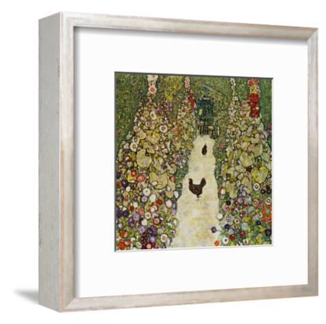 Gardenpath with Hens, 1916-Gustav Klimt-Framed Art Print
