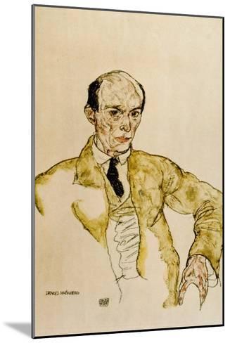 Composer Arnold Schoenberg, 1917-Egon Schiele-Mounted Giclee Print