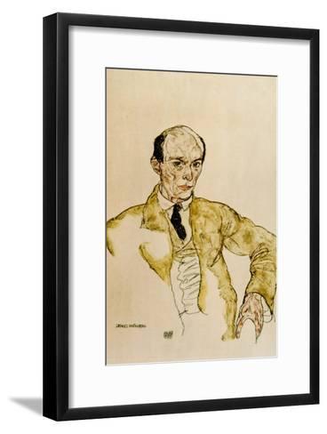Composer Arnold Schoenberg, 1917-Egon Schiele-Framed Art Print