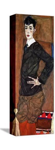 Portrait Erich Lederer, 1912-Egon Schiele-Stretched Canvas Print