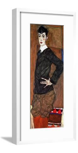 Portrait Erich Lederer, 1912-Egon Schiele-Framed Art Print